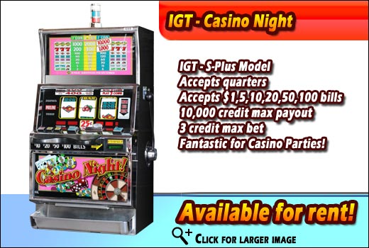 La nights casino rentals